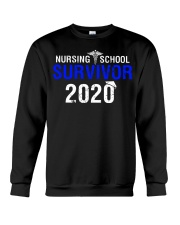 Nursing School Survivor 2020 Crewneck Sweatshirt thumbnail