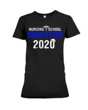 Nursing School Survivor 2020 Premium Fit Ladies Tee thumbnail
