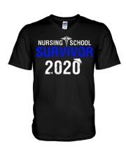 Nursing School Survivor 2020 V-Neck T-Shirt thumbnail