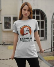 Halloween You Cant Scare Me Im Nurse I Just Stab Classic T-Shirt apparel-classic-tshirt-lifestyle-19