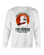 Halloween You Cant Scare Me Im Nurse I Just Stab Crewneck Sweatshirt thumbnail