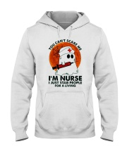 Halloween You Cant Scare Me Im Nurse I Just Stab Hooded Sweatshirt thumbnail