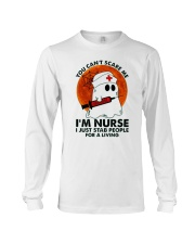 Halloween You Cant Scare Me Im Nurse I Just Stab Long Sleeve Tee thumbnail