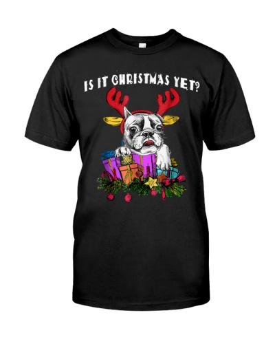 Is It Christmas Yet Bulldog T Shirt For Men Women