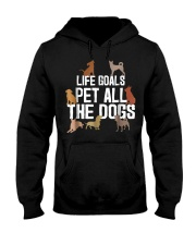 Life Goal Pet All The Dogs Funny Puppy Lover Gift  Hooded Sweatshirt thumbnail