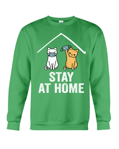 STAY AT HOME CAT CAT T-SHIRT