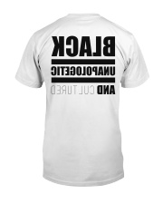 Black Unapologetic and Cultured Classic T-Shirt back