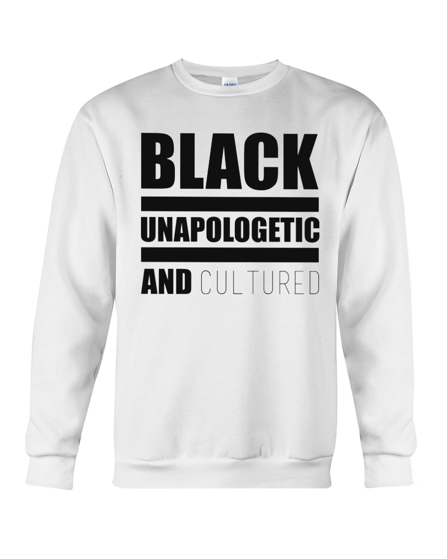 Black Unapologetic and Cultured Crewneck Sweatshirt