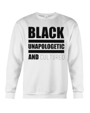 Black Unapologetic and Cultured Crewneck Sweatshirt front