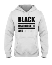 Black Unapologetic and Cultured Hooded Sweatshirt thumbnail
