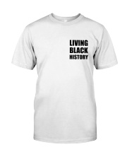 Living Black History 2019 White Premium Fit Mens Tee front