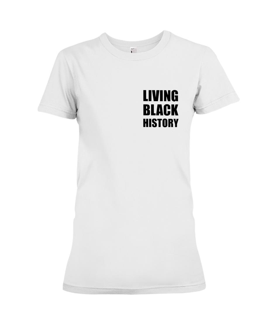 Living Black History 2019 White Premium Fit Ladies Tee