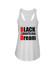 Black American Dream Ladies Flowy Tank tile