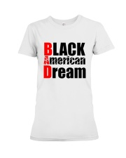 Black American Dream Premium Fit Ladies Tee thumbnail