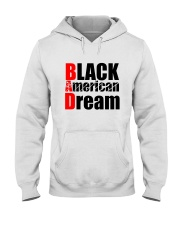 Black American Dream Hooded Sweatshirt front