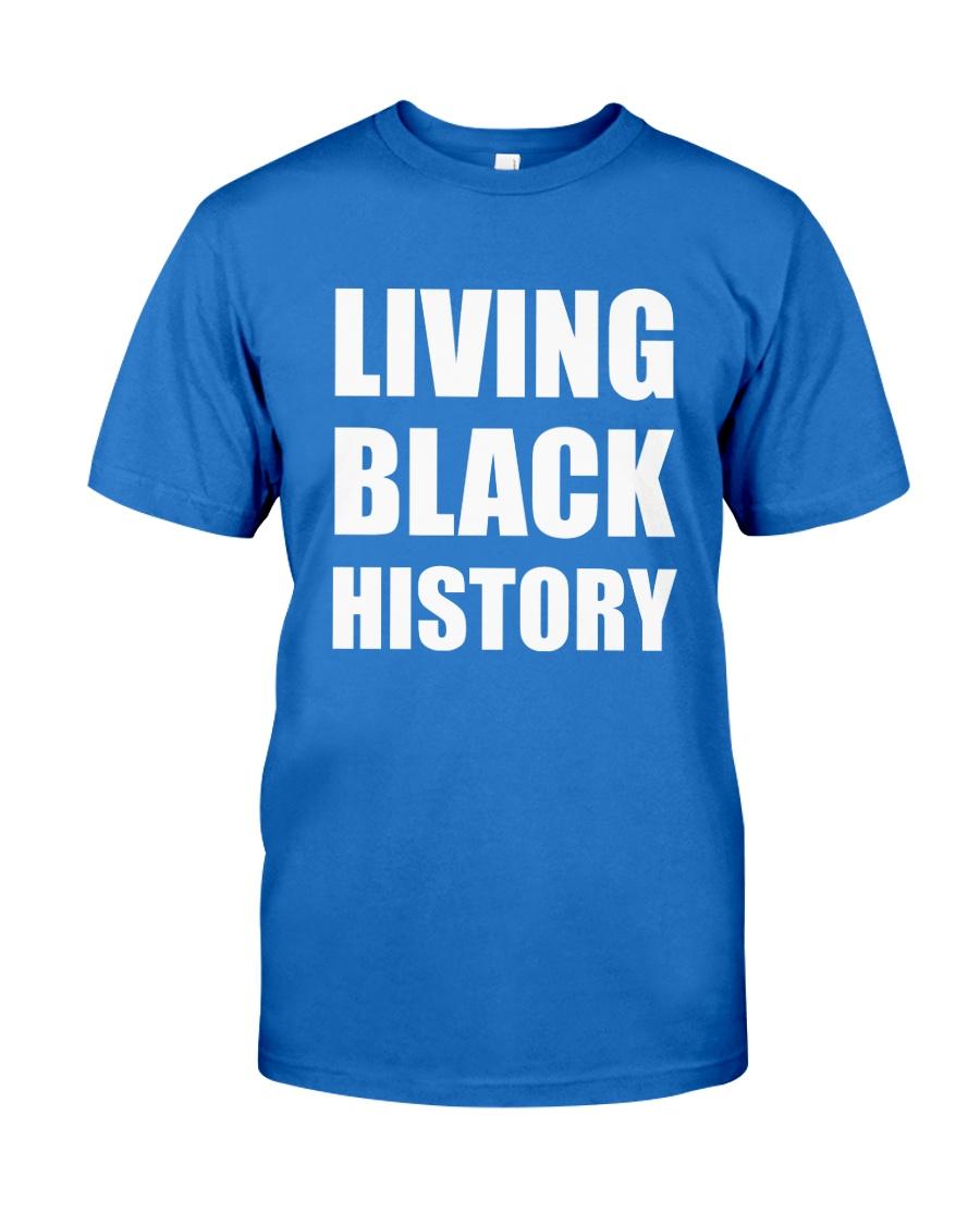 2019 Living Black History Black Premium Fit Mens Tee