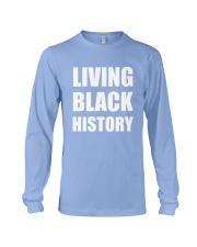 2019 Living Black History Black Long Sleeve Tee front