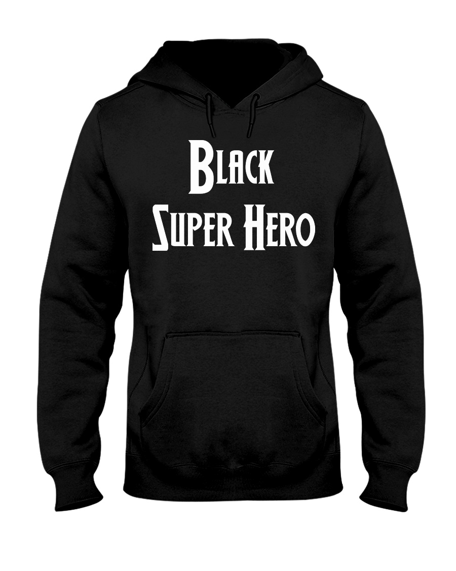 Black Supes Hooded Sweatshirt