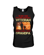 LOVE MORE THAN BEING A VETERAN - BEING A GRANDPA Unisex Tank thumbnail