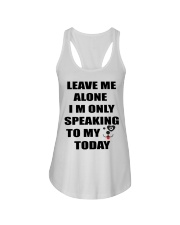 LEAVE ME WITH MY DOG Ladies Flowy Tank thumbnail