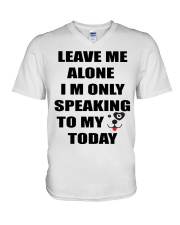 LEAVE ME WITH MY DOG V-Neck T-Shirt thumbnail