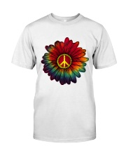 Hippie - Flower tie-dye Classic T-Shirt thumbnail