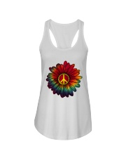 Hippie - Flower tie-dye Ladies Flowy Tank thumbnail