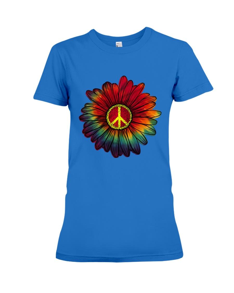 Hippie - Flower tie-dye Premium Fit Ladies Tee