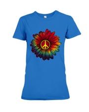 Hippie - Flower tie-dye Premium Fit Ladies Tee front