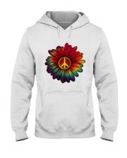 Hippie - Flower tie-dye Hooded Sweatshirt thumbnail