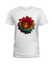 Hippie - Flower tie-dye Ladies T-Shirt thumbnail