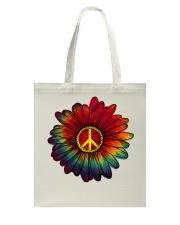 Hippie - Flower tie-dye Tote Bag thumbnail
