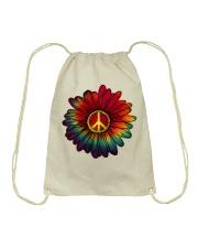 Hippie - Flower tie-dye Drawstring Bag thumbnail