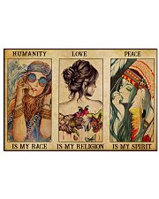 HUMANITY IS MY RACE 17x11 Poster front