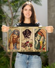 HUMANITY IS MY RACE 17x11 Poster poster-landscape-17x11-lifestyle-19