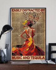 Easily Distracted By Music And Tequila 11x17 Poster lifestyle-poster-2