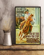 You Don't Stop Riding When You Get Old 11x17 Poster lifestyle-poster-3