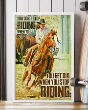 You Don't Stop Riding When You Get Old 11x17 Poster lifestyle-poster-4
