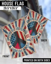 """Living Life In Peace  29.5""""x39.5"""" House Flag aos-house-flag-29-5-x-39-5-ghosted-lifestyle-04"""