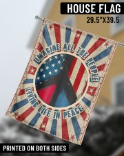 "Living Life In Peace  29.5""x39.5"" House Flag aos-house-flag-29-5-x-39-5-ghosted-lifestyle-08"