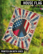 "Living Life In Peace  29.5""x39.5"" House Flag aos-house-flag-29-5-x-39-5-ghosted-lifestyle-10"