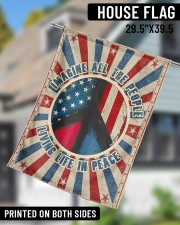 "Living Life In Peace  29.5""x39.5"" House Flag aos-house-flag-29-5-x-39-5-ghosted-lifestyle-11"