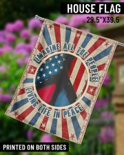 """Living Life In Peace  29.5""""x39.5"""" House Flag aos-house-flag-29-5-x-39-5-ghosted-lifestyle-14"""