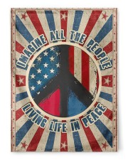 "Living Life In Peace  29.5""x39.5"" House Flag front"