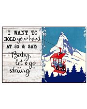 BABY LET'S GO SKIING 17x11 Poster front