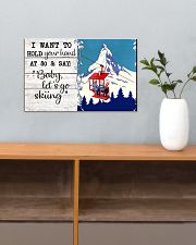 BABY LET'S GO SKIING 17x11 Poster poster-landscape-17x11-lifestyle-24
