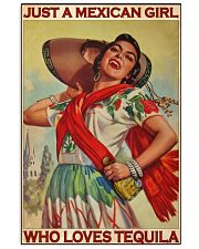 Just A Mexican Girl Who Loves Tequila 11x17 Poster front