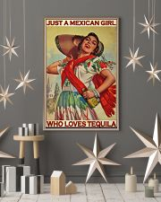 Just A Mexican Girl Who Loves Tequila 11x17 Poster lifestyle-holiday-poster-1
