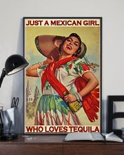 Just A Mexican Girl Who Loves Tequila 11x17 Poster lifestyle-poster-2