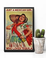 Just A Mexican Girl Who Loves Tequila 11x17 Poster lifestyle-poster-8